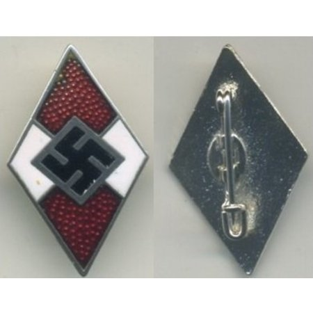 Hitlerjugend badge rood