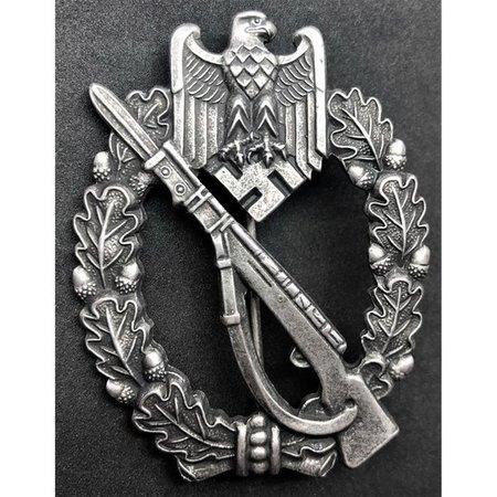 Infanterie aanvals badge zilver