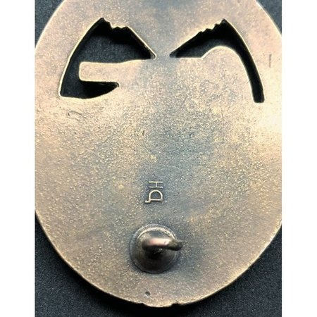 Panzer division badge bronze