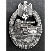 Panzer division badge silver
