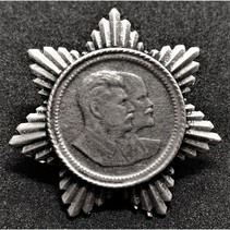 Stalin and Lenin propaganda pin