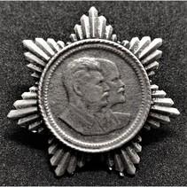 Stalin en Lenin propaganda pin