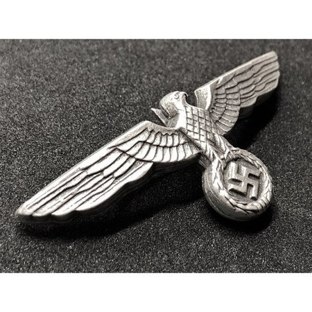 Wehrmacht eagle cap badge silver