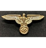 SS eagle cap badge gold