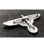 SS eagle cap badge silver