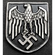Eagle metal helmet badge
