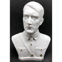 Adolf Hitler head en chest bust white