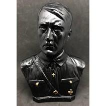 Adolf Hitler hoofd met borst buste zwart