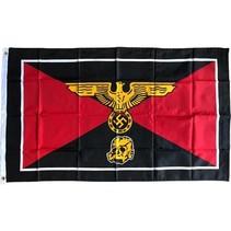 Waffen SS golden totenkopf flag polyester