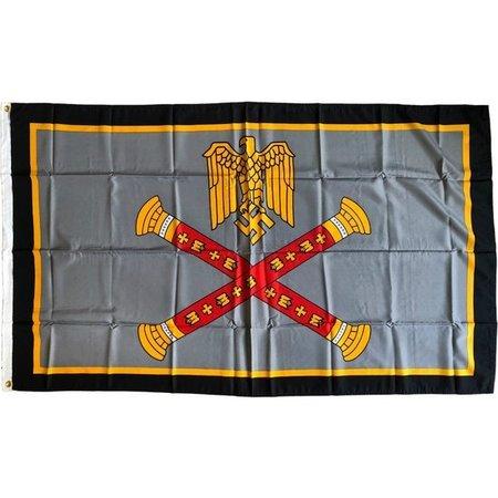 Generaal Rommel oorlogs vlag polyester