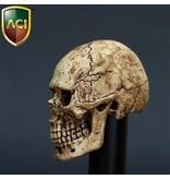 Hand geverfde schedel