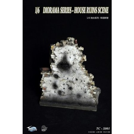 Huis ruïne 1:6 diorama accessoire