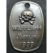 Waffen SS Berlin 1939 ID tag