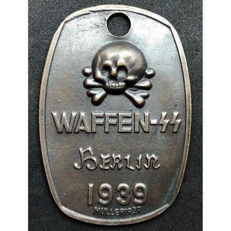 Waffen SS Berlin 1939 identiteitsplaatje