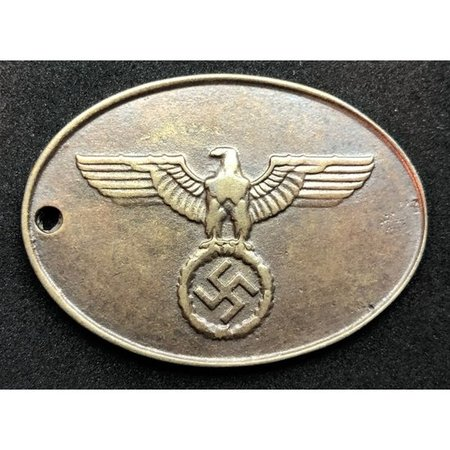 Gestapo identiteitsplaatje
