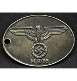 Prussian police ID tag type 2