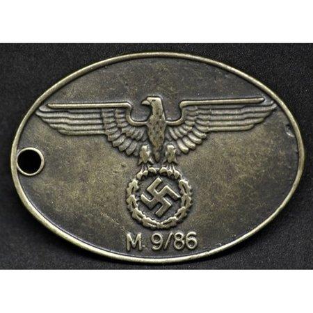 Gestapo identiteitsplaatje type 2