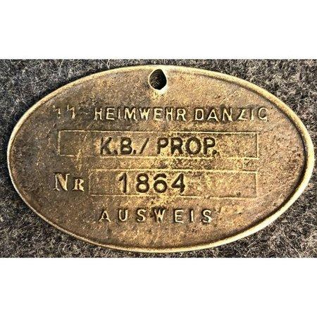 Heimwehr Danzig identiteitsplaatje