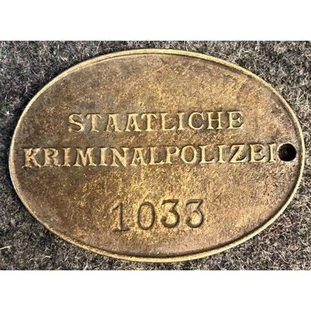 Kriminalpolizei identiteitsplaatje