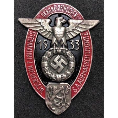 Car plaque Pfingsten 1933
