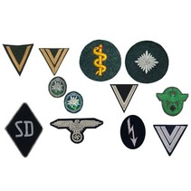 Choose chevrons and sleeve patches