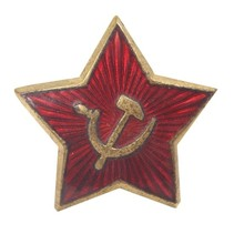 ORIGINAL Soviet side cap badge