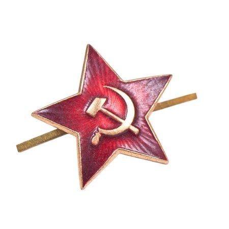 ORIGINAL Soviet officer cap badge