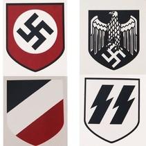 Kies stahlhelm stickers