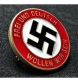 Frei und Deutsch wollen wir sein badge