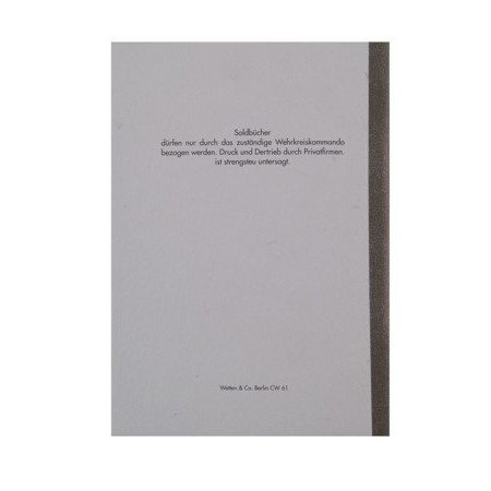 Waffen SS dienstboek