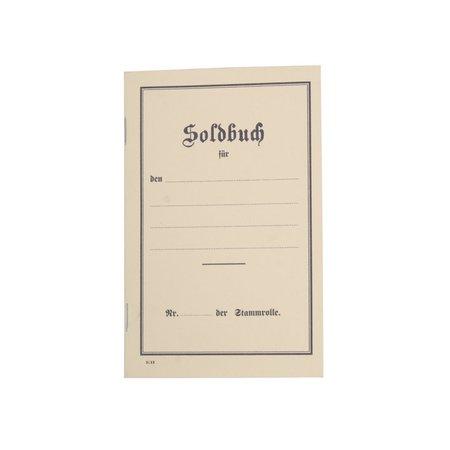 WW1 German paybook