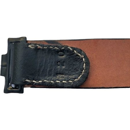 Black german leather belt