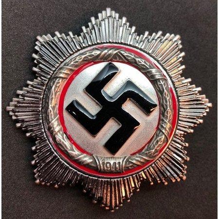 Duitse kruis broche zilver