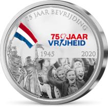 Nationale Herdenkingsmunt '75 Jaar Vrijheid'