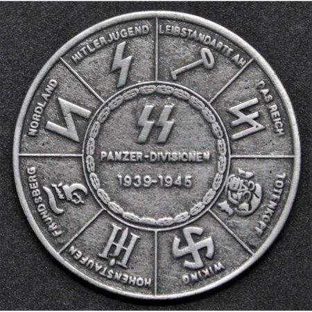 SS en Wehrmacht panzer divisies medaille