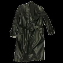 German black leather greatcoat