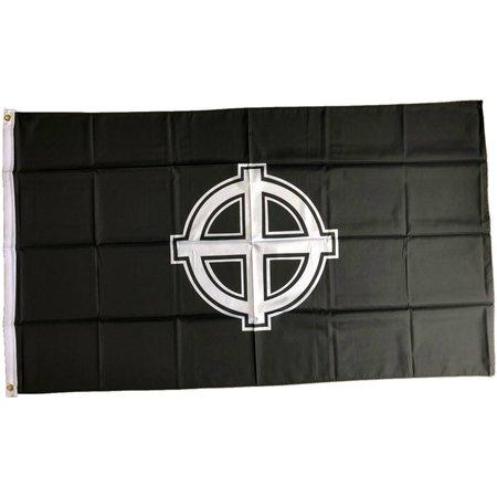 Celtic cross flag polyester