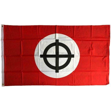 Celtic cross flag polyester type 2