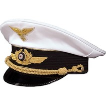 Luftwaffe general visor cap white