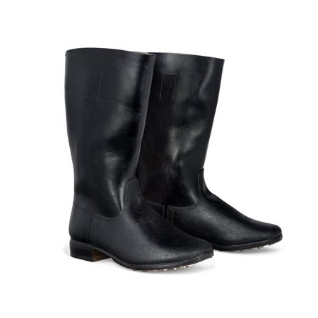German leather marching boots