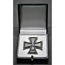 Display case for iron cross