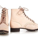 M37 German leather army ankle boots undyed