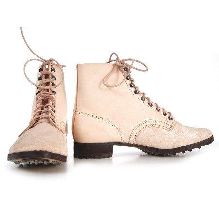 M37 Duitse leren leger schoenen ongeverfd