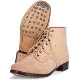 M43 Duitse zwarte leren leger schoenen ongeverfd