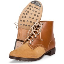 German leather army ankle boots light brown