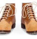 Duitse zwarte leren leger schoenen ongeverfd licht bruin