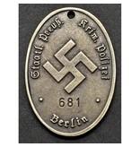 Politie Pruissen identiteitsplaatje
