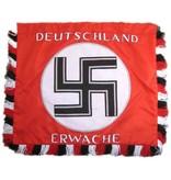 Deutschland Erwache hand genaaide banier