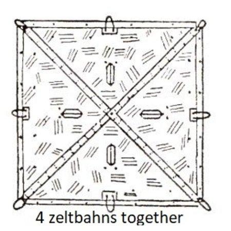 2 in 1 eichentarn camouflage zeltbahn