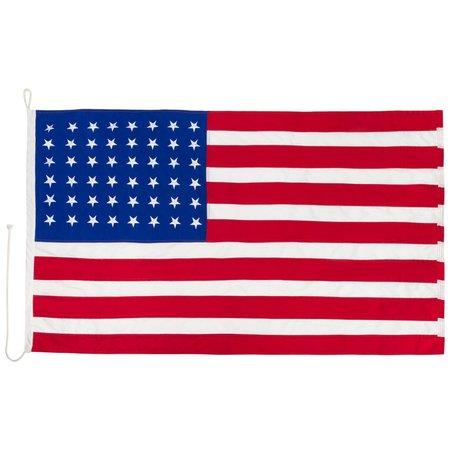 American WW1 and WW2 flag cotton